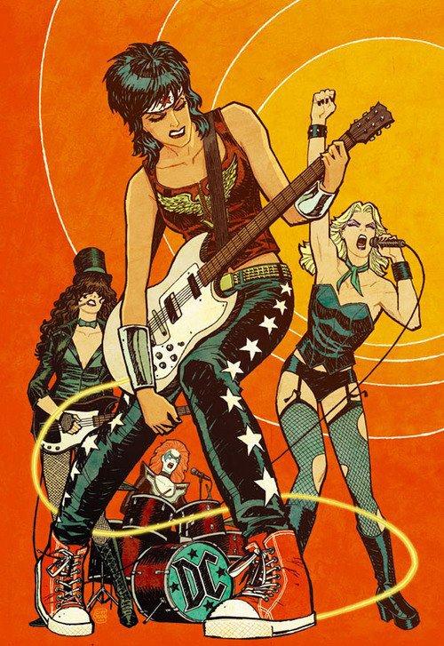 Wonder Woman, Black Canary and Zattana ROCKIN' IT OUT.