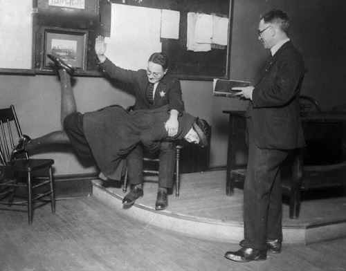 So This Happened: Corporal punishment for rolled stockings, 1922, Chicago.