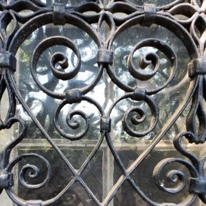 Iron work at Cheek House
