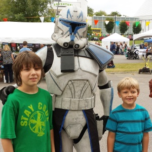 The boys with Capt. Rex.